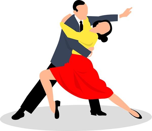Grafika przedstawia tańczącą parę