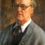 Zdjęcie przedstawia reprodukcję autoportretu Józefa Pankiewicza