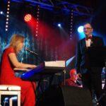 Katarzyna Muller- Wantuła i Bohdan Wantuła na scenie SCK- Bytków podczas nagrywania koncertu on-line