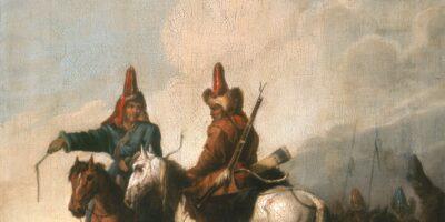 Zdjęcie przedstawia obraz Aleksandra Orłowskiego pt. Kirgizi