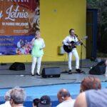 Na zdjęciu zespół Metrum czyli Reni i Marco. Widać też pierwsze rzędy publiczności. Foto Monika Bilska