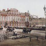 Zdjęcie przedstawia widok na Petersburg w IXI wieku