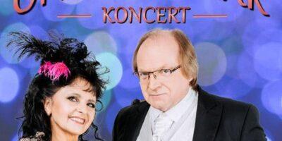 Na zdjęciu artyści występujący w koncercie Operetki czar - Ewa Mierzyńska i Andrzej Smogór