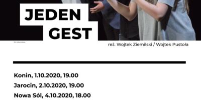 Plakat informujący o terminach oraz miejscach, w których będzie grany spektakl.